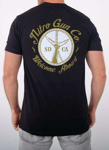 Welcome Aboard! Black T Shirt