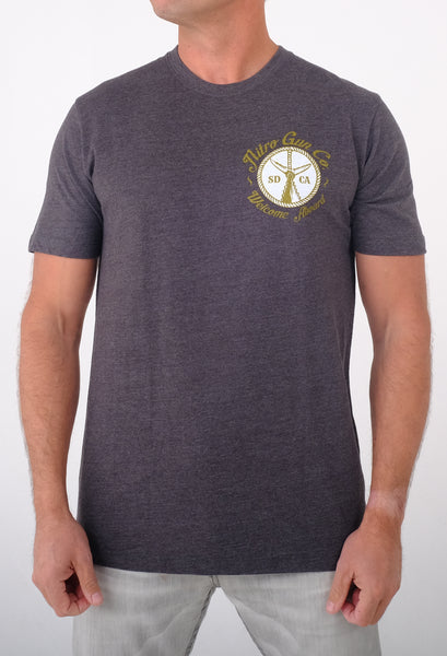 Welcome Aboard! Carbon Grey T Shirt