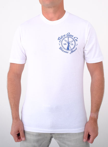 Welcome Aboard! White T Shirt