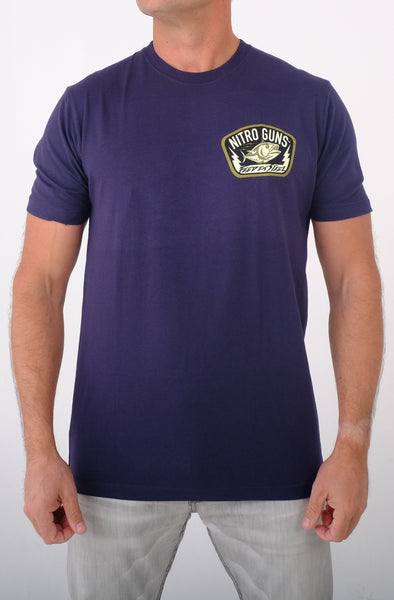 Feed 'em Steel Classic Navy T Shirt