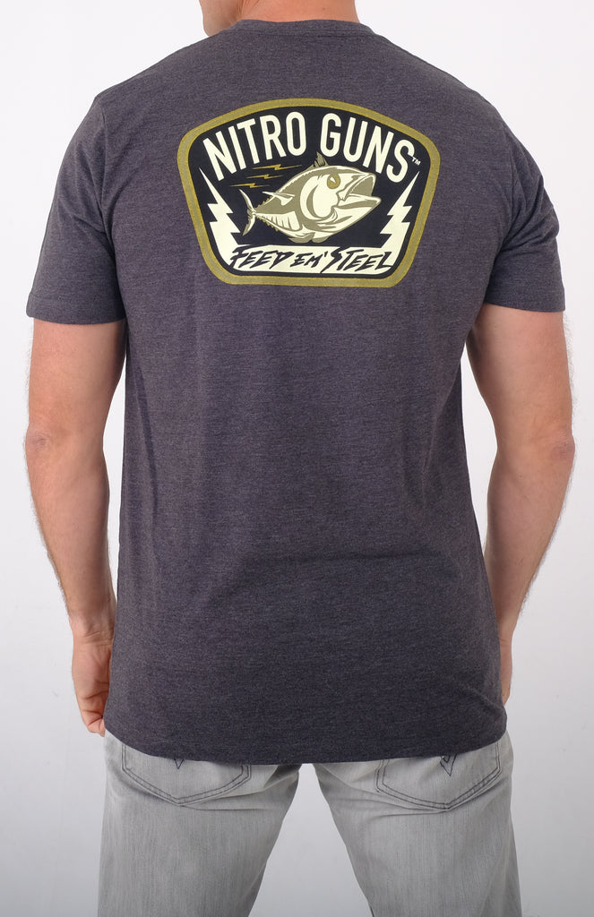Feed 'em Steel Carbon Grey T Shirt