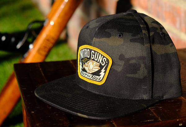 """Feed Em Steel"" Multicam Black Snapback Hat"