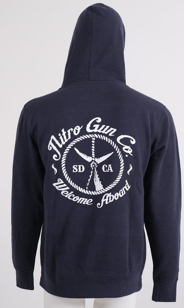 Welcome Aboard ! Unisex Pullover Sweatshirt (Hooded) - Classic Navy
