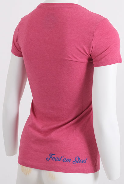 Lady's Welcome Aboard! Raspberry / Pink T Shirt