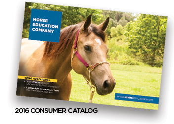 Horse Education Company catalog with horse training equipment, dvds and HYBRID Halter