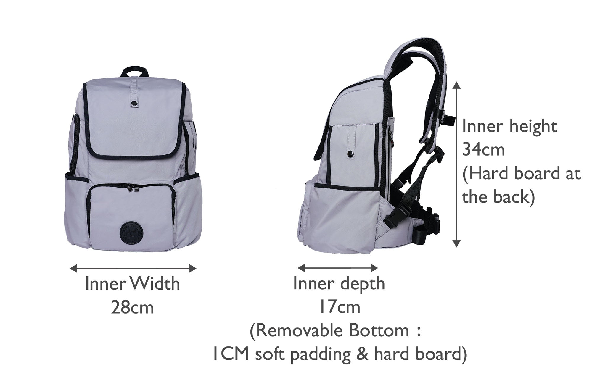 Backpack dog carrier for small dog, dimension of the dog carrier