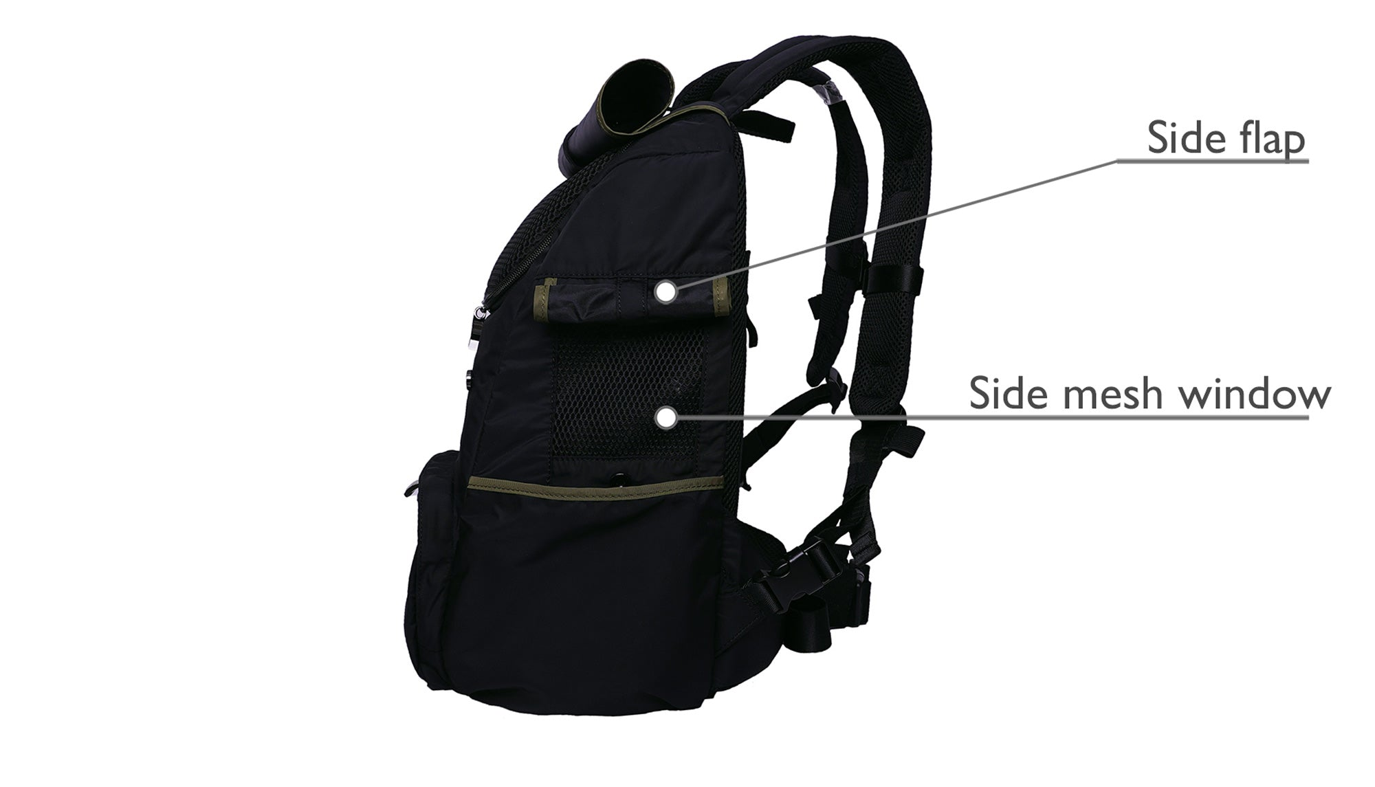 Backpack Pet Carrier for Small dog with breathable mesh window