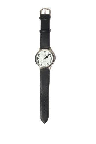 White Face/Black Numbers Silver Watch