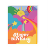 Mod Happy Birthday Greeting Card