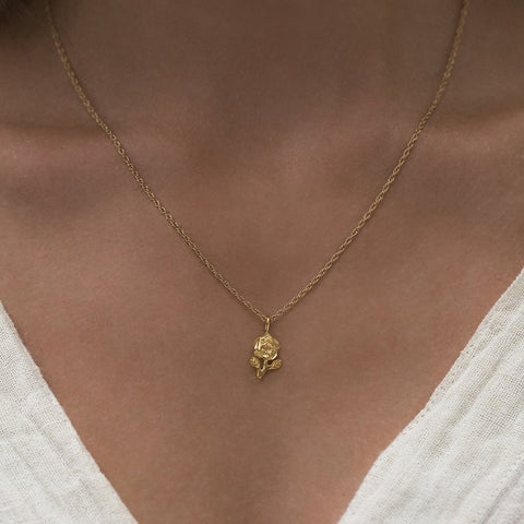 Gold Moon w CZ star Necklace