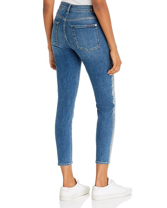 High-waist Ankle Skinny Jeans In B(air)
