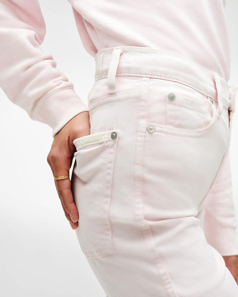 High Waist Ankle Skinny in Pink