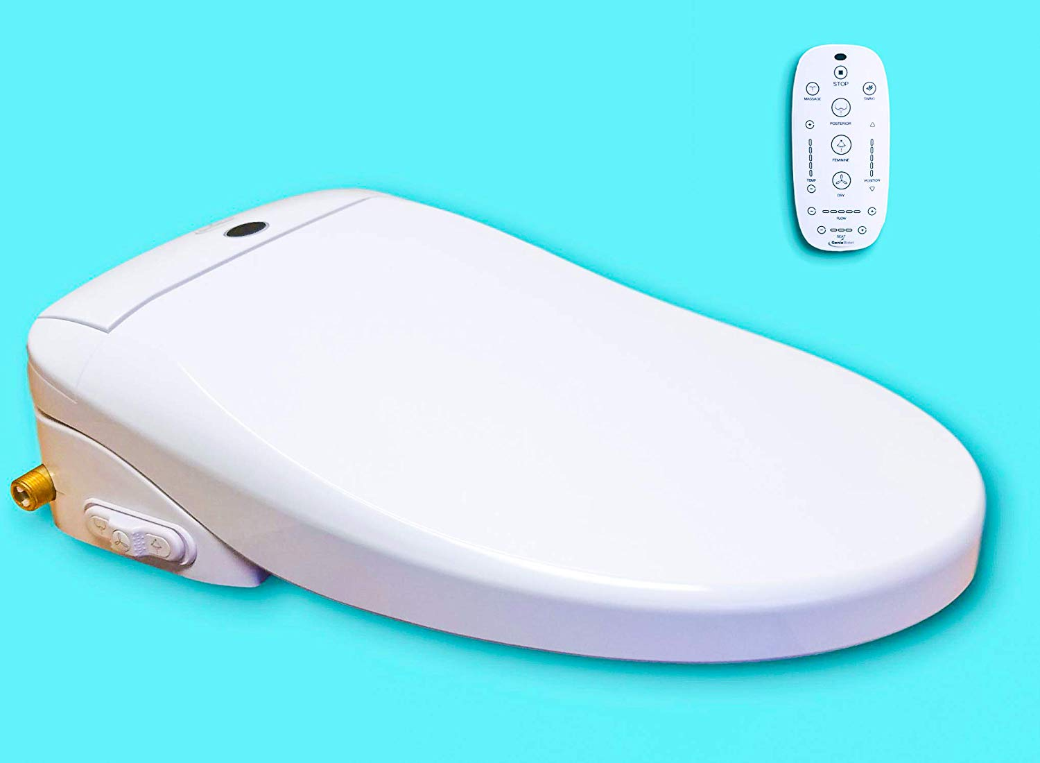 bidet toilet seat with smart remote