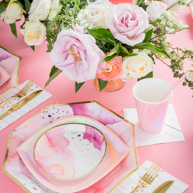 Pretty in Pink Charger Plates from Jollity & Co