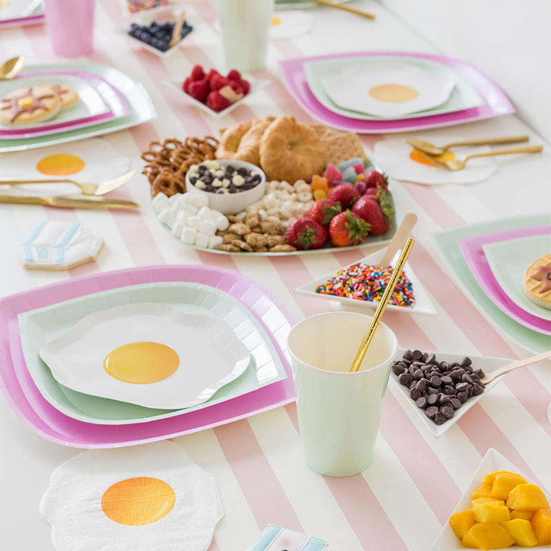 Yolks on You Dessert Plates from Jollity & Co