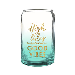 High Tides Good Vibes Beer Glass