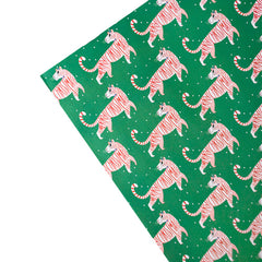 """Merry Christmas"" Tiger Gift Wrap Sheet"