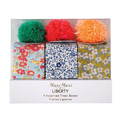 liberty print treat boxes with pom pom