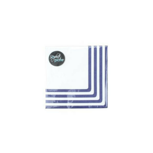 navy striped cocktail napkins