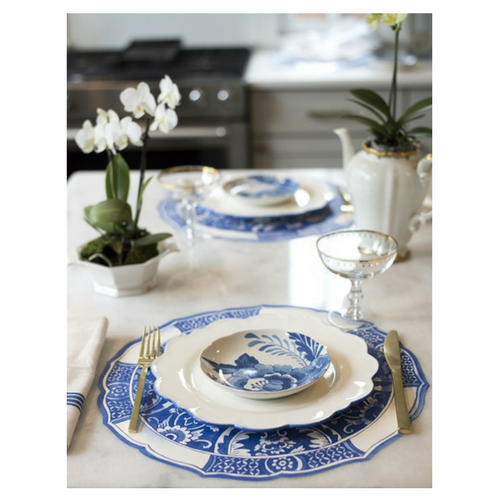 China Blue Paper Placemats