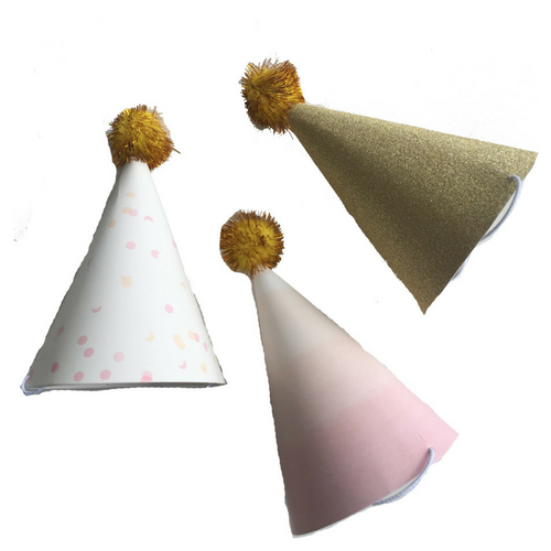 Pink Mini Party Hats