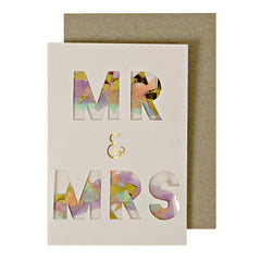 Mr. & Mrs. Confetti Gift Enclosure Card