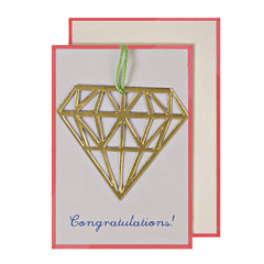 Diamond Congratulations Gift Enclosure Card