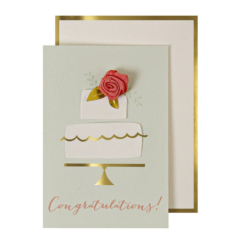 Wedding Cake Gift Enclosure Card