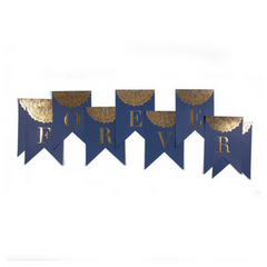 Forever Navy and Gold Banner