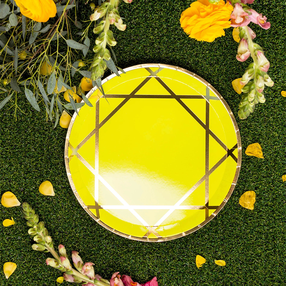 Chartreuse Enchanté Dinner Plates from Jollity & Co