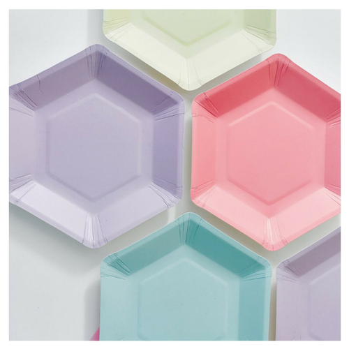 Pastel Hexagon Plates