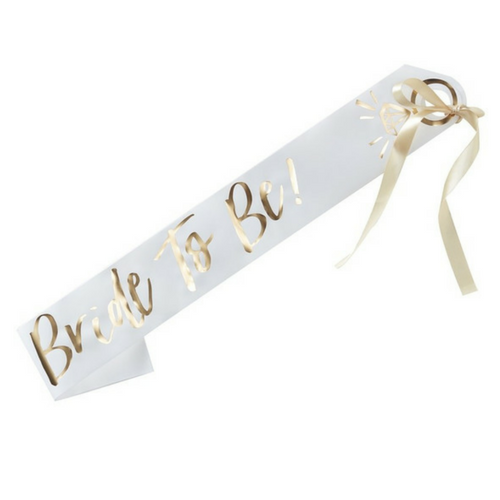 bride to be sash for shower or bachelorette