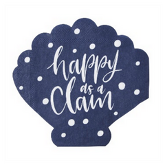 happy as a clam paper party napkin