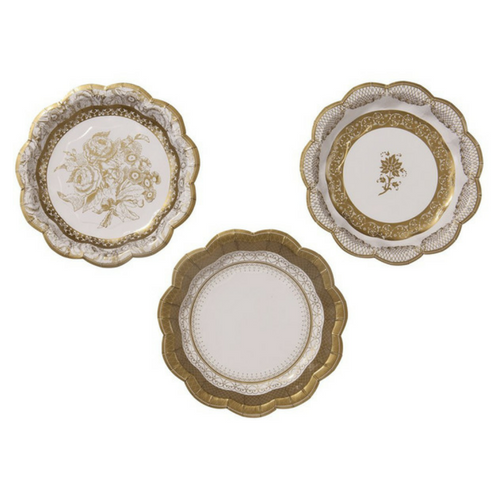 Small Gold Scalloped Plates