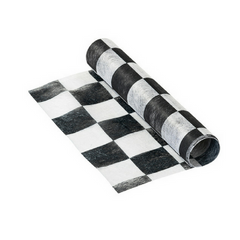 Black and White Checkered Table Runner