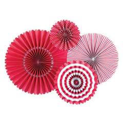 red paper rosettes