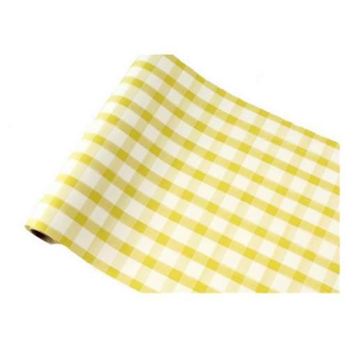 Yellow Gingham Table Runner