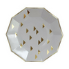Gold Triangle Decagon Plate