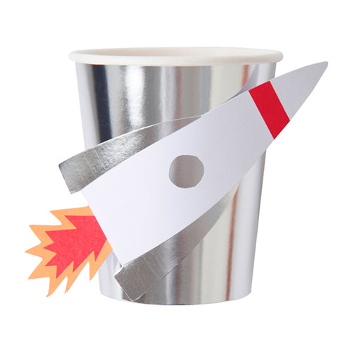 space rocket ship cups