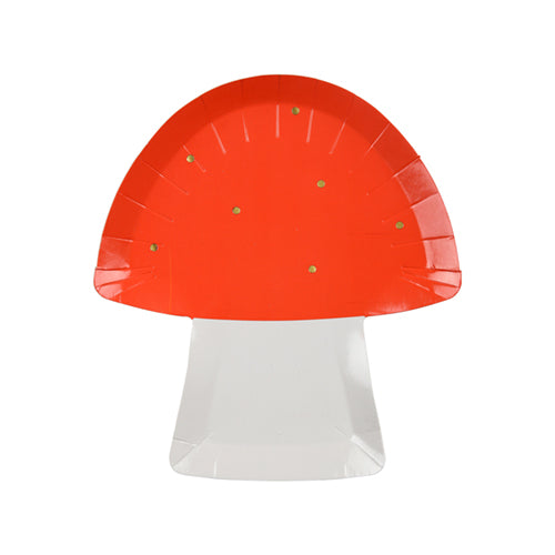 cute die cut toadstool plates for fairy party