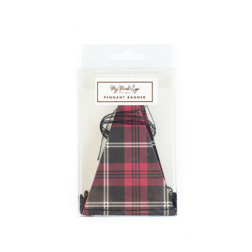 christmas plaid pennant banner