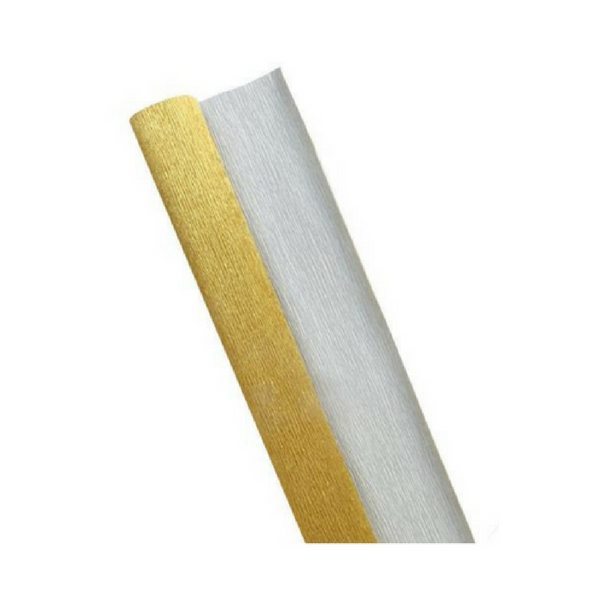 Gold Crepe Paper Table Runner