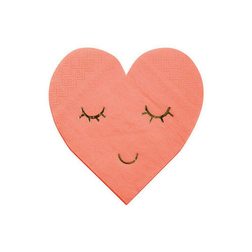 pink heart shaped napkins