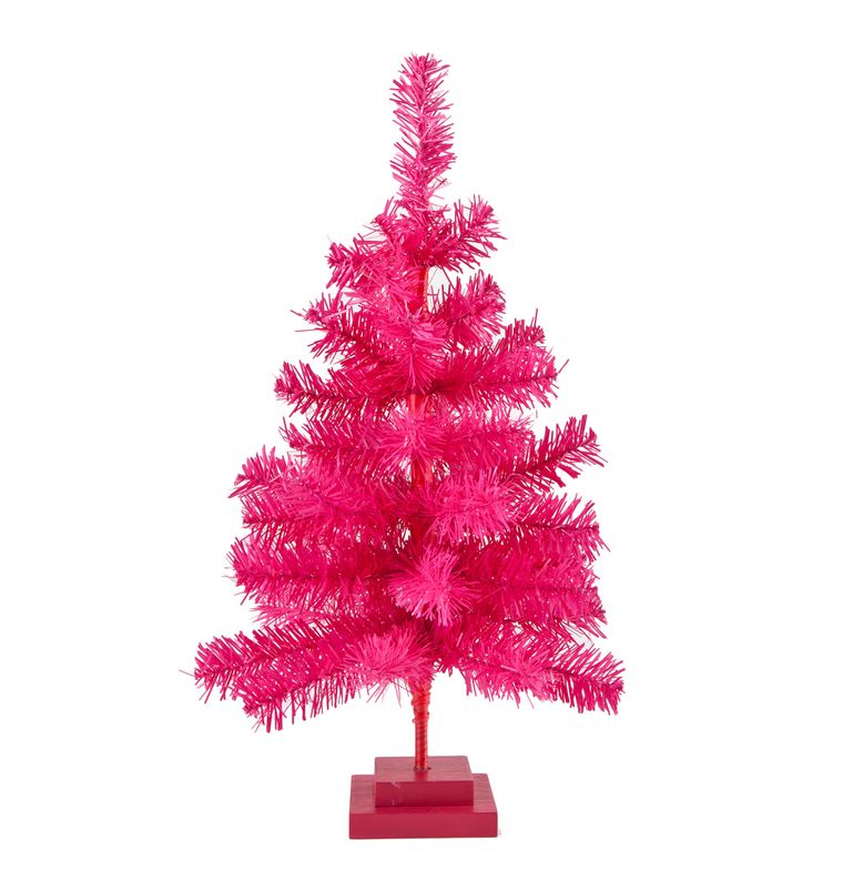 Pink Christmas Trees.Hot Pink Christmas Trees
