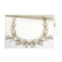 Gold Laurel Wreath Paper Placemats