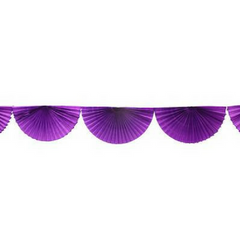 Purple Bunting Fan Garland