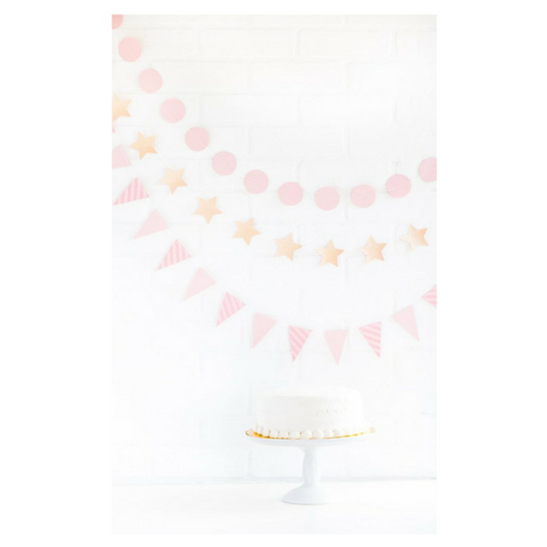 light pink mini banner kit