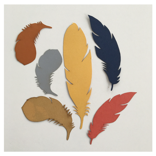 Paper Feather Pack (24 pieces)