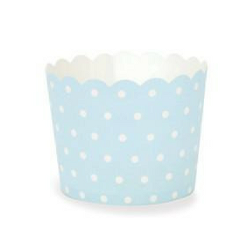 Light Blue with White Polka Dot - Baking Cups