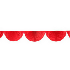 Red Bunting Fan Garland